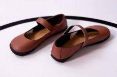 Barefoot Ahinsa shoes Balerínka (hnědá se semišem)(Sundara) bosá