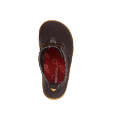 Barefoot Vivobarefoot GOBI K Leather Dk Brown bosá