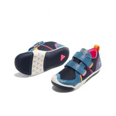 Barefoot Plae Ty Suede/Nylon Navy/pink bosá