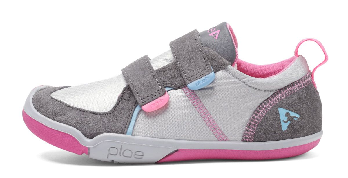 Barefoot Plae Ty Suede/Nylon Silver/pink bosá