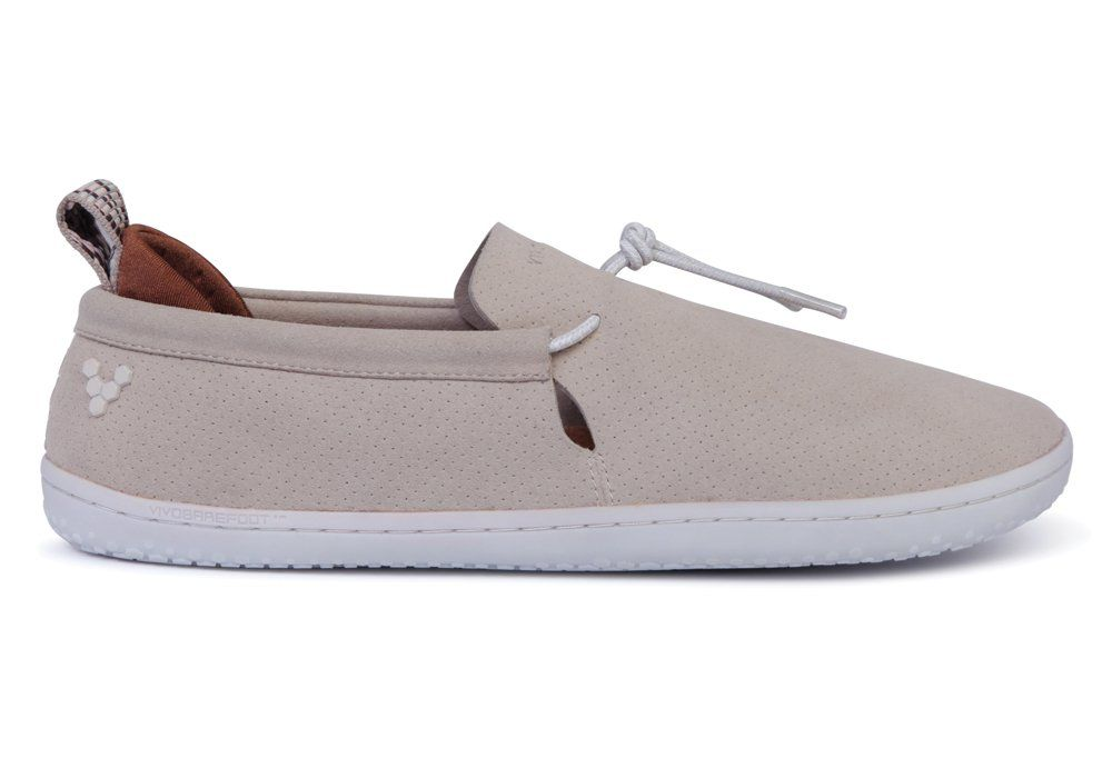 Barefoot Vivobarefoot ELINA L Eco Suede Cement bosá