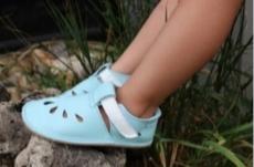 Baby bare shoes Sandálky / papučky IO Aqua
