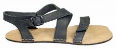 Barefoot kožené sandále černé BF B107 -60V