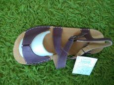 Barefoot Barefoot dámské kožené sandále vínové ORTOplus Barefoot bosá