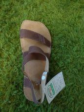 Barefoot kožené sandále čokoládové BF B107 -66