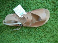 Barefoot kožené sandále pískové