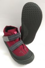 Filii barefoot - VEGAN MAMBA TEX fleece berry/graphit M