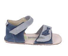 Ortoplus barefoot sandálky D203 modré s rybičkou