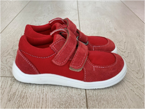 Barefoot Baby bare shoes Febo sneakers red bosá