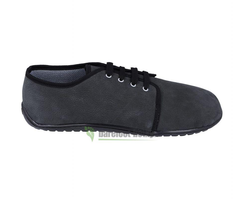 Barefoot Beda barefoot kožené boty s membránou - dark grey bosá