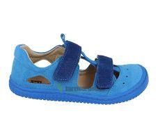 KAIMAN velcro velours turquoise/blue M