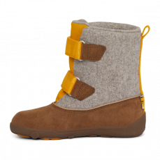 Barefoot Dětské barefoot boty Affenzahn Minimal Highboot Leather - Tiger/Yellow Brown bosá