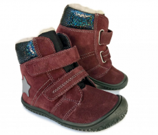 Filii barefoot -  HIMALAYA velours tex berry velcro M