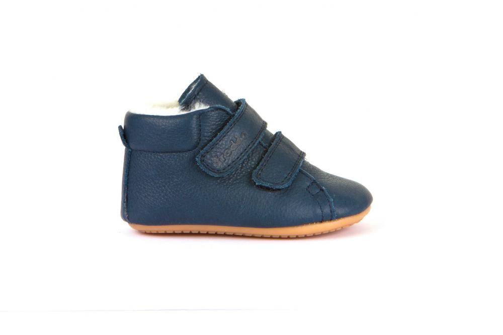 Barefoot Barefoot boty Froddo Prewalkers zimní dark blue sheepskin bosá