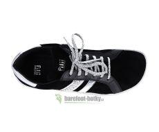 Barefoot Barefoot tenisky Filii - ADULT TOPMODELL VELOURS BLACK bosá