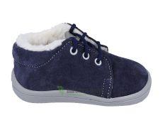 Beda Barefoot - Lucas - zimní boty s membránou-tkaničky