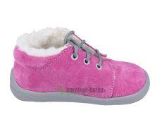 Beda Barefoot - Rebecca - zimní boty s membránou-tkaničky