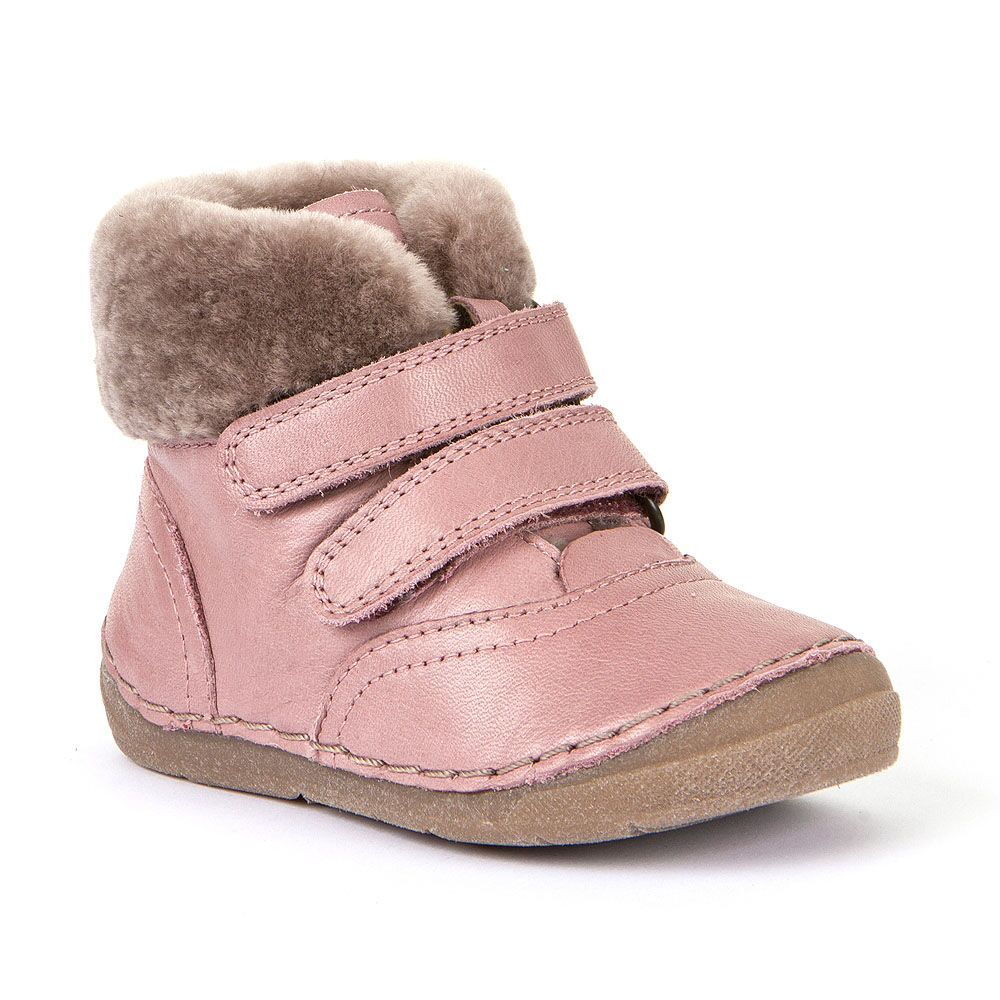 Barefoot Froddo winter flexible Sheepskin pink bosá