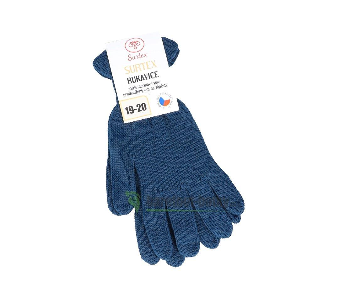 Barefoot Surtex rukavice petrolejové 100% merinové vlny silné bosá