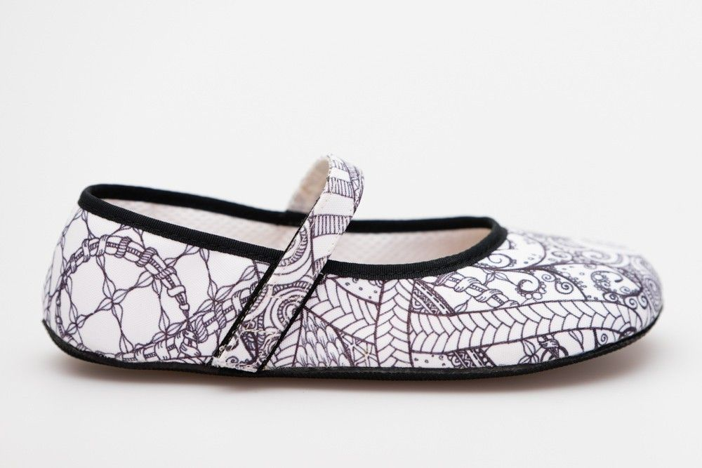 Barefoot Ahinsa shoes Balerínka Ananda Zentangle bosá