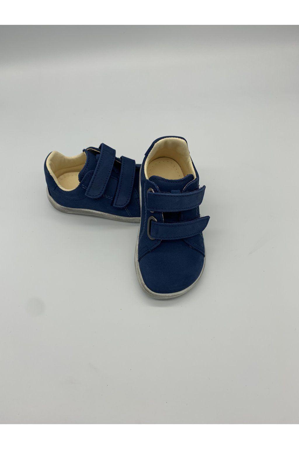 Barefoot Baby bare shoes Febo Spring navy nubuk bosá