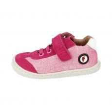 Barefoot Filii SALAMANDER velours/textil strap pink M bosá