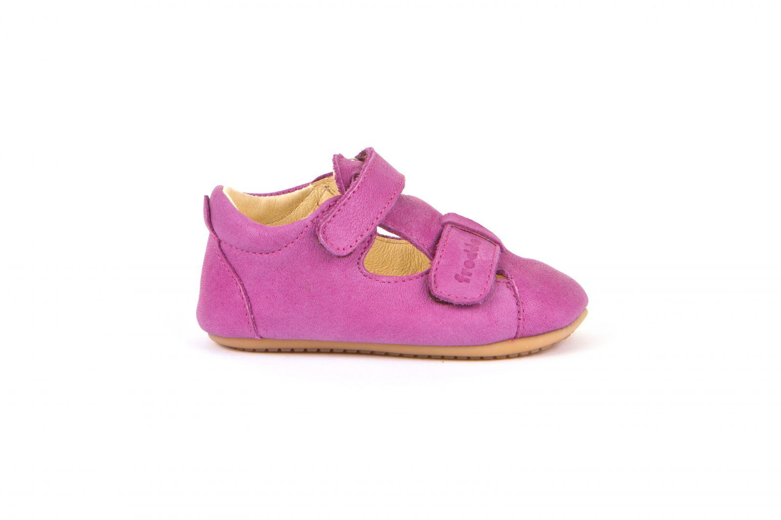 Barefoot Froddo prewalkers sandálky fuchsia - suché zipy bosá