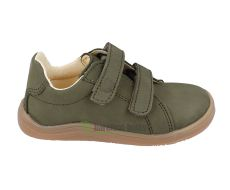Baby bare shoes Febo khaki nubuk