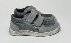 Baby bare shoes Febo Sneakers Grey - stíraná podrážka