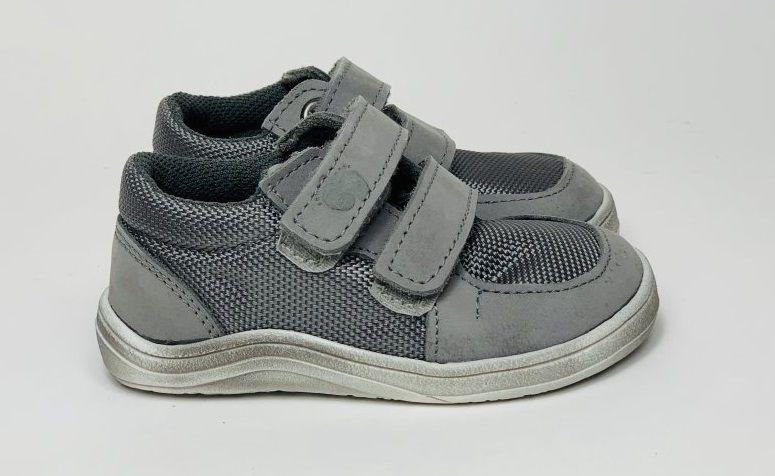 Barefoot Baby bare shoes Febo Sneakers Grey - stíraná podrážka bosá