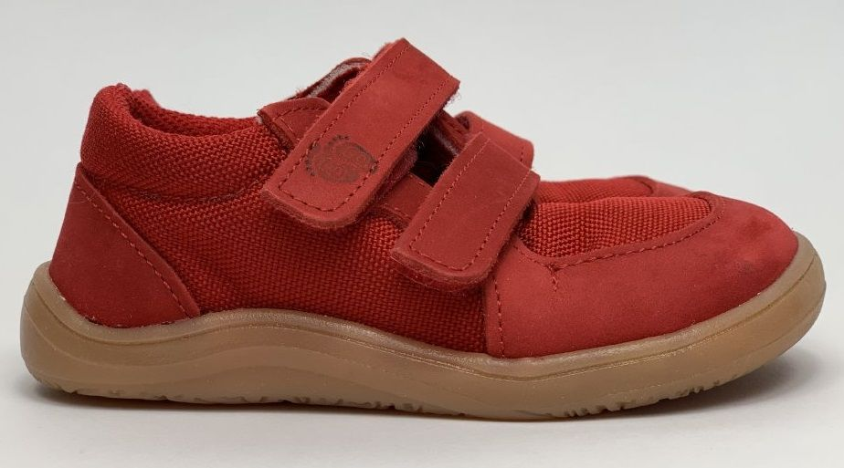 Barefoot Baby bare shoes Febo Sneakers Red/Resina bosá