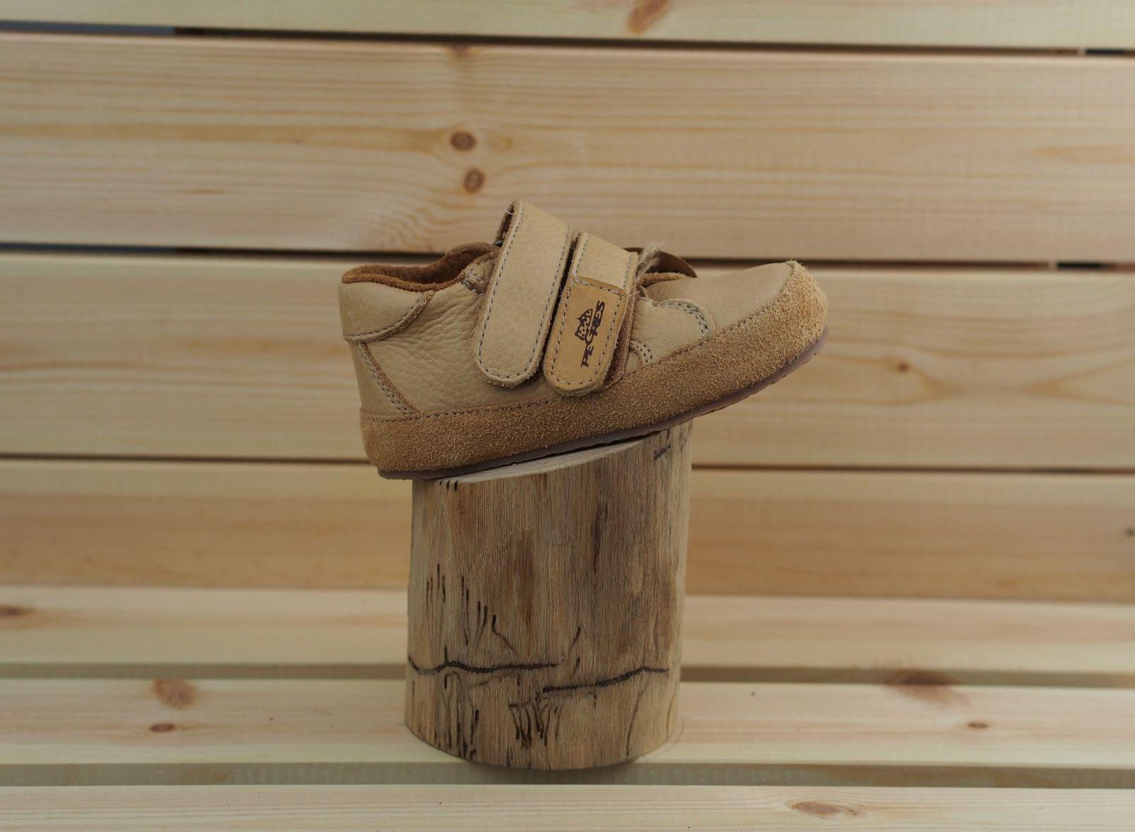 Barefoot Barefoot kožené boty Pegres B1408 - béžová bosá
