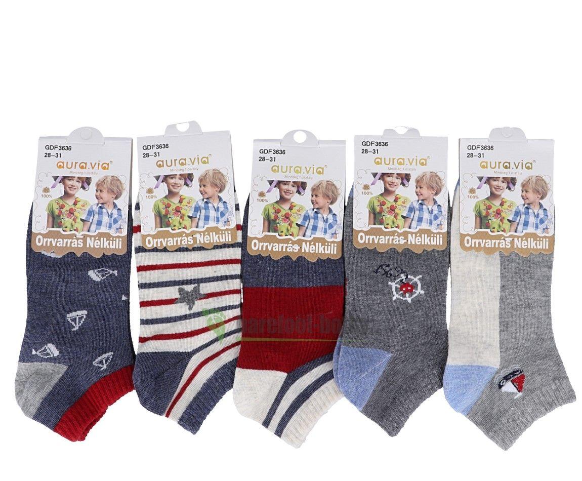 Barefoot Chlapecké kotníčkové ponožky bosá