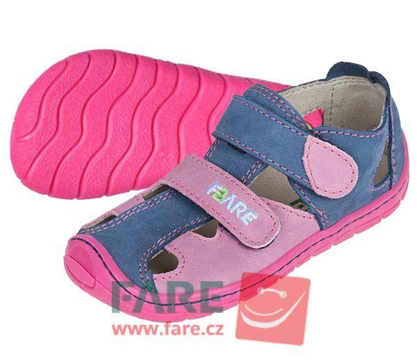 Barefoot FARE BARE dětské letní boty 5161251 bosá