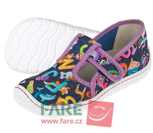 Barefoot FARE BARE DĚTSKÉ PAPUČE NA SUCHÝ ZIP 5202491 bosá