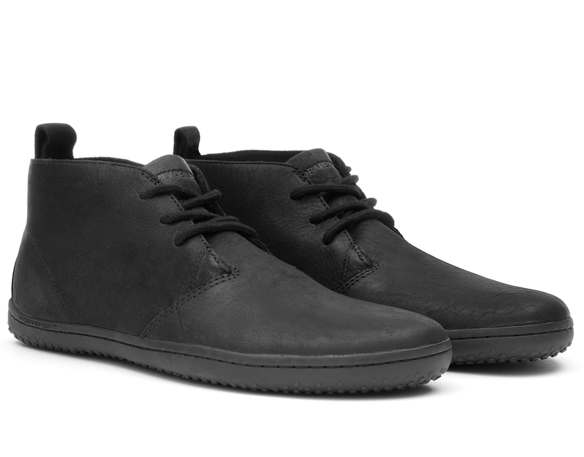Barefoot Vivobarefoot GOBI II M Leather Black/Hide bosá