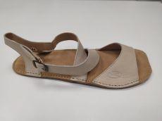 Barefoot kožené sandále béžové 01