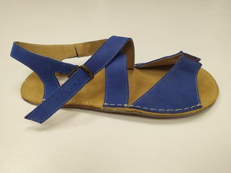 Barefoot Barefoot dámské kožené sandále modré ORTOplus Barefoot bosá