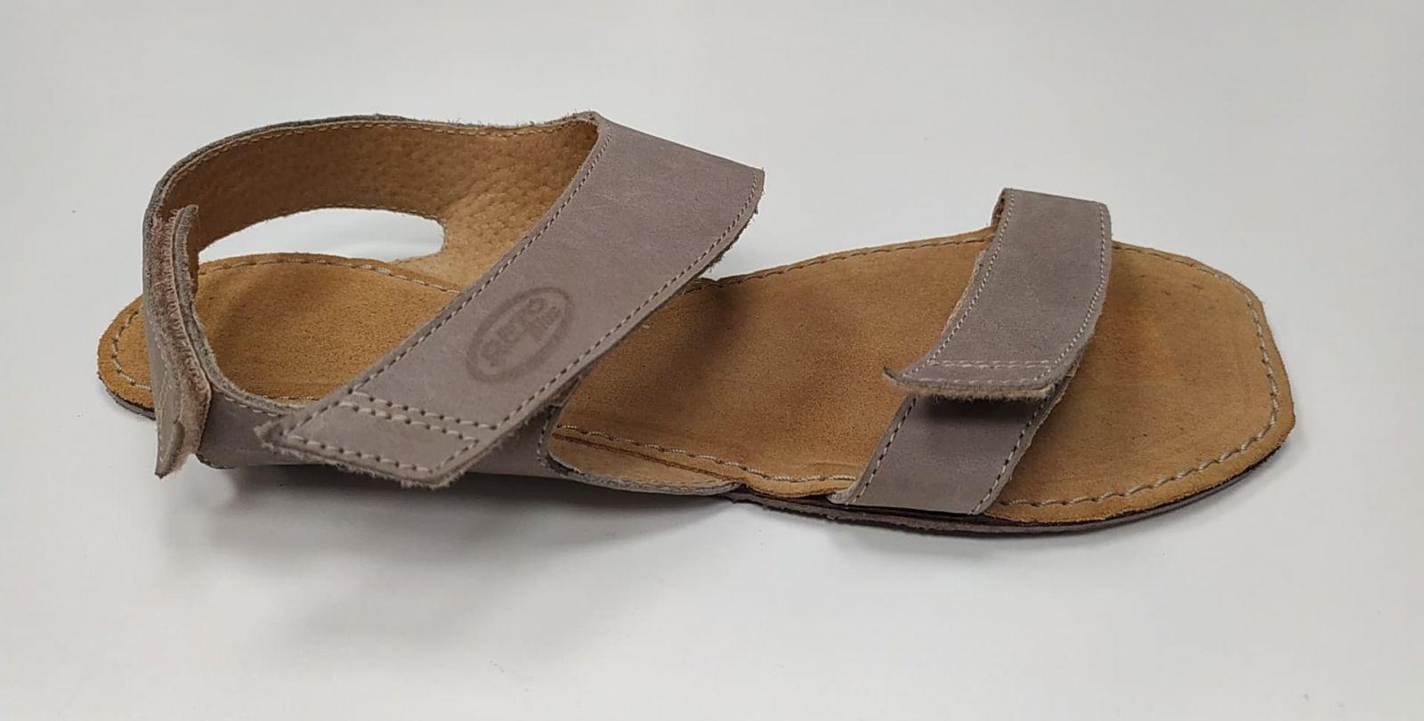 Barefoot Barefoot sandále Bora šedé ORTOplus Barefoot bosá