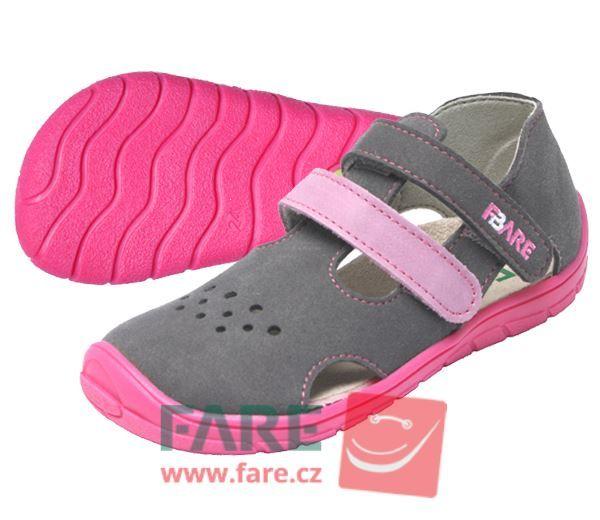 Barefoot FARE BARE dětské sandály 5164252 bosá