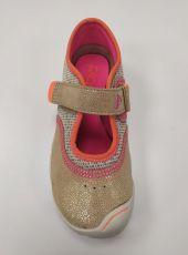 Barefoot Plae Emme Shimmer Suede/Mesh Gold bosá