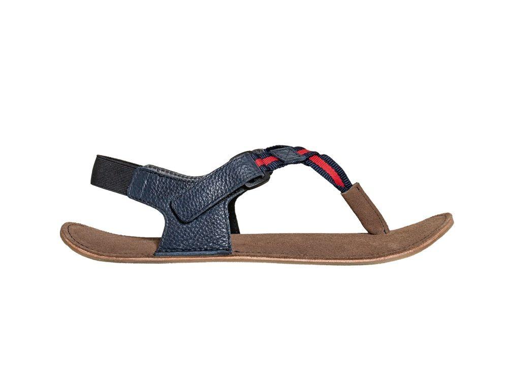 Barefoot Sole runner sandále Neso blue/red bosá