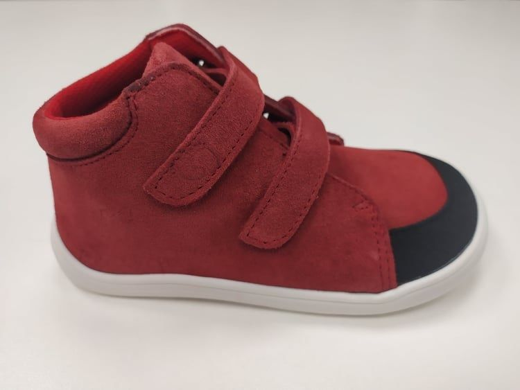 Barefoot Baby bare shoes Febo Fall Red bosá
