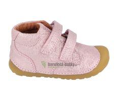 Barefoot boty Bundgaard Petit Velcro  Pink Grille