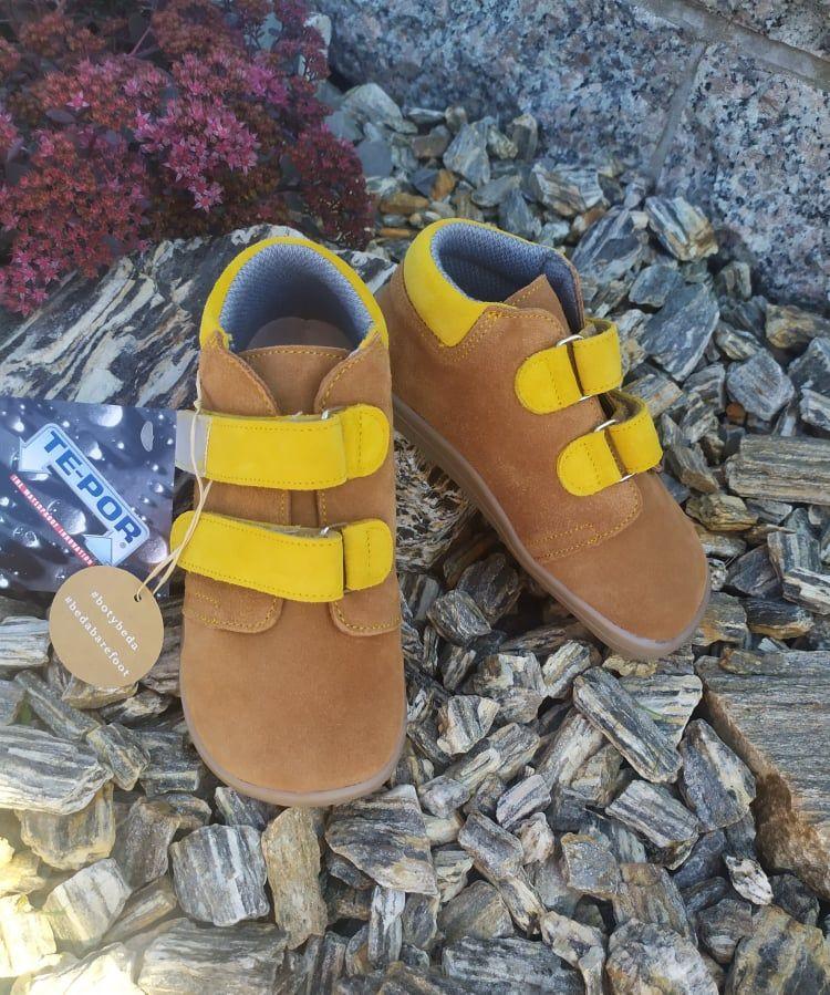Barefoot Beda Barefoot Caramel - celoroční boty s membránou bosá