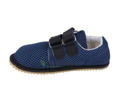 Barefoot Beda barefoot tenisky se suchým zipem - tmavě modré se světlou podrážkou bosá