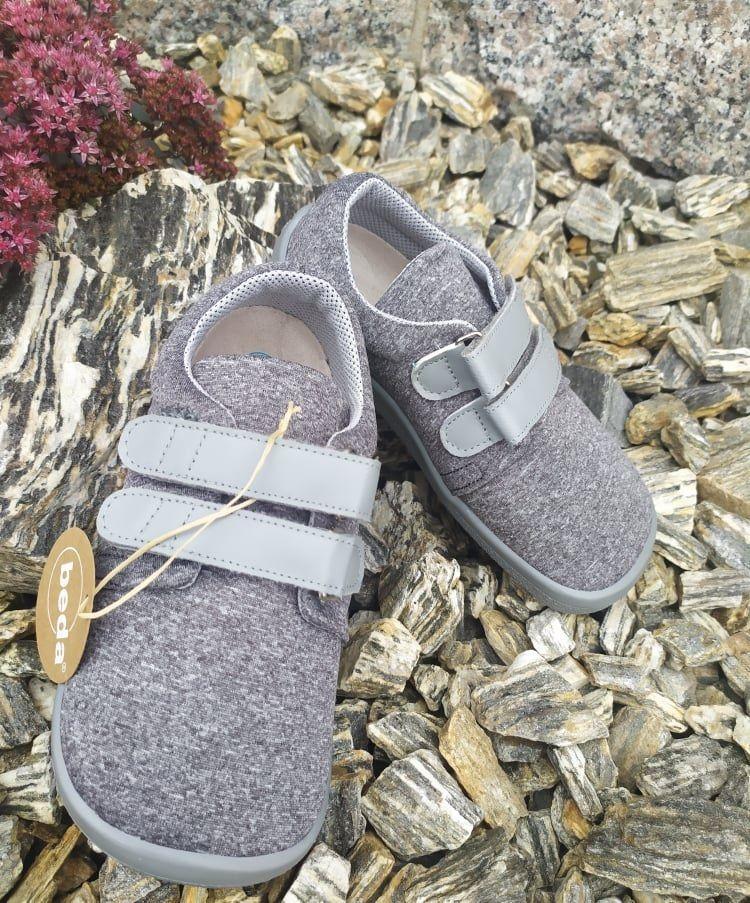 Barefoot Beda barefoot tenisky Soft grey bosá