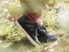 Barefoot Sole runner barefoot boty Naiad Black/White Plain Leather bosá