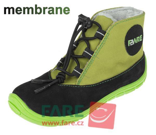 Barefoot FARE BARE DĚTSKÉ ZIMNÍ NEPROMOKAVÉ BOTY A5143231 bosá