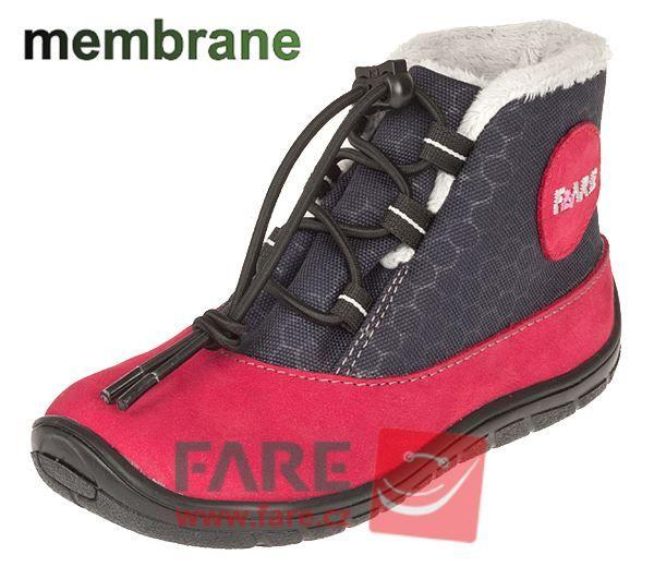 Barefoot FARE BARE DĚTSKÉ ZIMNÍ NEPROMOKAVÉ BOTY B5543241 bosá
